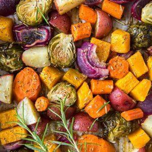 Medley or roasted vegetables.