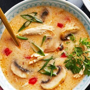Thai Chicken Coconut Curry Soup.